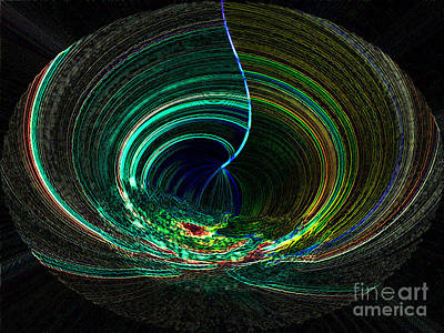 Digital Art - Digital Design - Neon Swirl - Luther Fine Art by Luther Fine Art