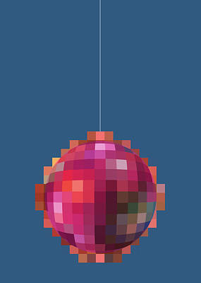 Digital Art - Digital Disco Xmas Ball by Stan  Magnan
