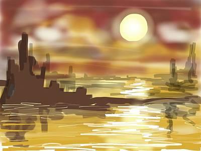 Painting - Digital Doodles 3 by Richard Mordecki