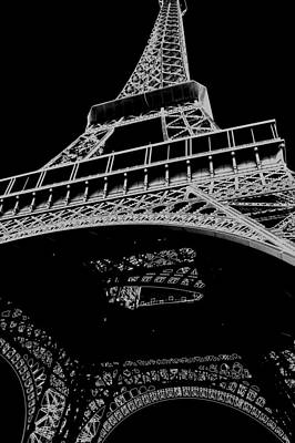 Photograph - Digital Eiffel by Lisa Parrish