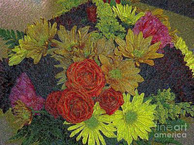 Photograph - Digital Flower Art by Merton Allen