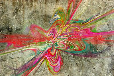 Abstract Digital Art - Digital Graffiti by Betsy Jones