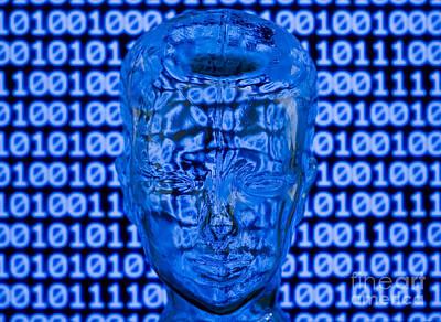 Digital Head Art Print by Shawn Hempel