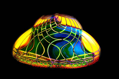 Photograph - Digital Lamp Shade by Gunter Nezhoda