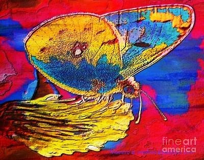 Digital Mixed Media Butterfly Art Print