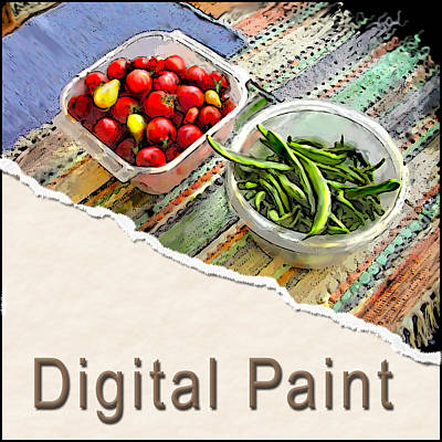 Digital Art - Digital Paint Button by Arthur Fix