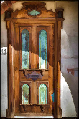 Photograph - Digital Painting Of A Door At The Mission Scottsdale Arizona by Roger Passman