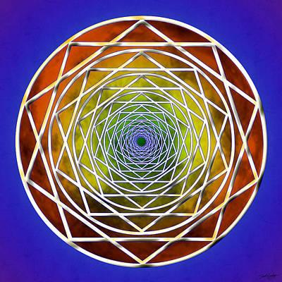 Digital Art - Digital Pentagon Wormhole by Derek Gedney