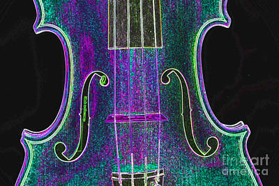 Photograph - Digital Photograph Of A Viola Violin Middle 3374.03 by M K  Miller