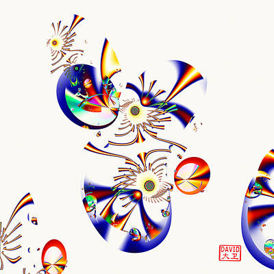 Digital Art - Digital Picasso - Tweet Tweet by David Jenkins