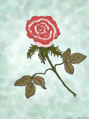 Digital Art - Digital Rose Art by Debbie Portwood