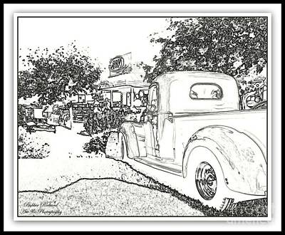 Photograph - Digital Sketch by Bobbee Rickard