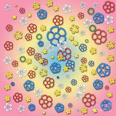 Digital Springtime Art Print
