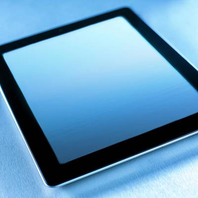 Digital Tablet Art Print by Science Photo Library