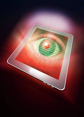 Ipad Photograph - Digital Tablet With Eye by Victor Habbick Visions