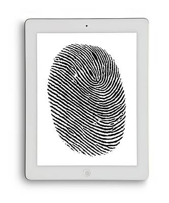 Digital Tablet With Finger Print Art Print