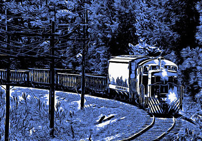 Digital Art - Digital Train by Joseph C Hinson Photography