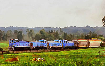 Digital Art - Digital Train N Chester by Joseph C Hinson Photography