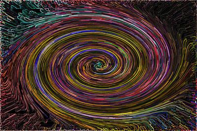 Digital Art - Digital Vortex by David Pyatt