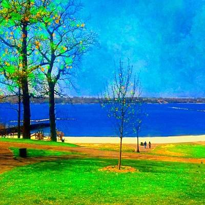Landscapes Wall Art - Photograph - #digitalart #landscape #beach #park by Robin Mead