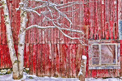 Photograph - Digitally Altered Red Barn. by Don Landwehrle