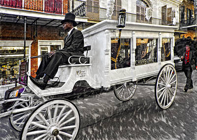 Funeral Procession Photograph - Dignified Departure Paint 2 by Steve Harrington