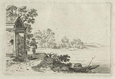 Dilapidated Drawing - Dilapidated Chapel, Gillis Van Scheyndel by Gillis Van Scheyndel (i)