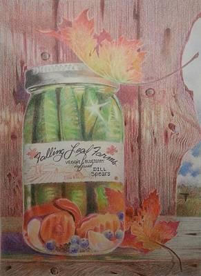 Drawing - Dill Pickles by NJ Brockman