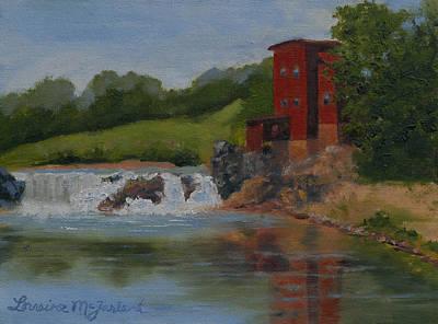Millstone Painting - Dillard Mill Morn by Lorraine McFarland