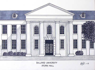 Drawing - Dillard University by Frederic Kohli