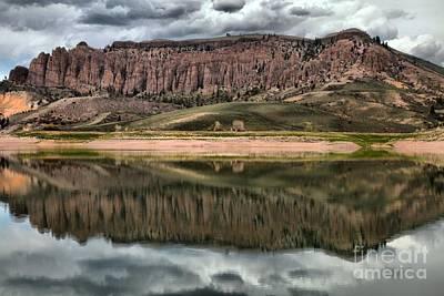 Blue Mesa Reservoir Photograph - Dillon Pinnacles Reflections by Adam Jewell