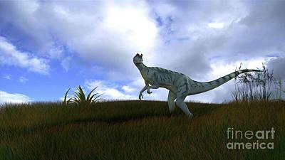 Digital Art - Dilophosaurus In A Grassy Field by Kostyantyn Ivanyshen