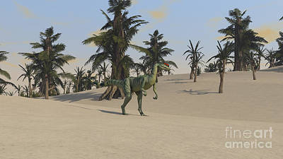 Digital Art - Dilophosaurus In A Tropical Environment by Kostyantyn Ivanyshen
