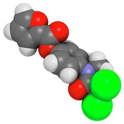 Chemical Photograph - Diloxanide Furoate Amoebiasis Drug by Molekuul