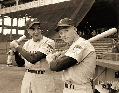 Photograph - Dimaggio And Mantle by Roberto Prusso