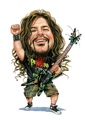 Comics Royalty-Free and Rights-Managed Images - Dimebag Darrell by Art