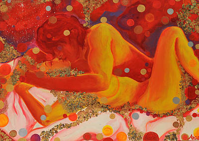 Kamasutra Painting - Dimension Of Pleasure by Arianna Ruffinengo