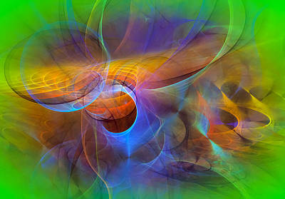 Modern Abstract Art Digital Art - Dimensions by Modern Art Prints