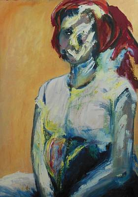 Metal Sheet Painting - Dinah After The Rape by Esther Newman-Cohen