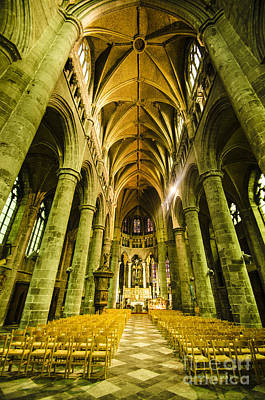 Photograph - Dinant Cathedral Interior by Deborah Smolinske