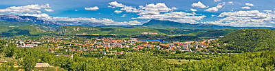 City Scenes - Dinara mountain and town of Knin by Brch Photography