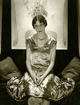 Dinarzade Wearing A Molyneux Dress Art Print