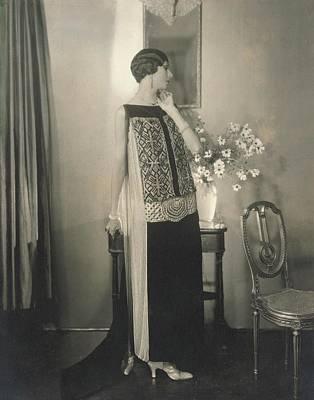 Dinarzade Wearing A Velvet Dress Art Print