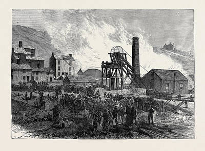 Vale Drawing - Dinas Colliery Rhondda Valley South Wales The Scene by English School