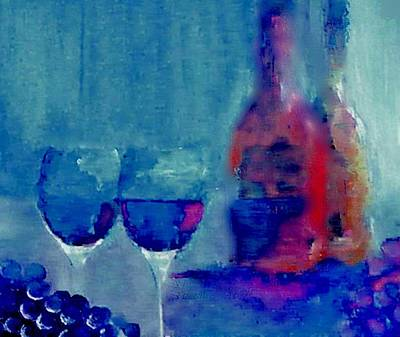 Painting - Dine With Wine by Lisa Kaiser