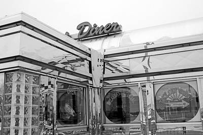 Photograph - Diner 10 Bw by Mary Bedy