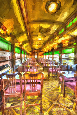 Photograph - Diner Car by Paul W Faust -  Impressions of Light
