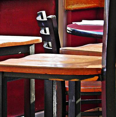 Photograph - Diner Chairs 2 by Sarah Loft