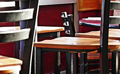 Photograph - Diner Chairs 3 by Sarah Loft
