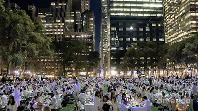 Diner En Blanc New York 2013 Art Print